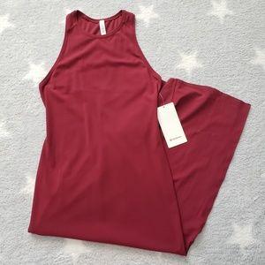 NWT Lululemon Get Going Maxi Dress Ruby Wine Sz 8